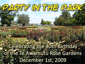 Te Awamutu Rose Gardens 40th Birthday